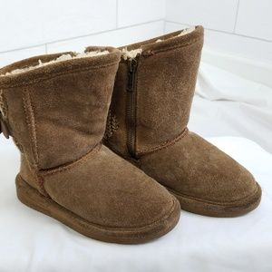 Bearpaw Shearling Boots Toddler Girls Size 9 Brown